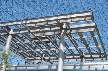 open steel frame canopy